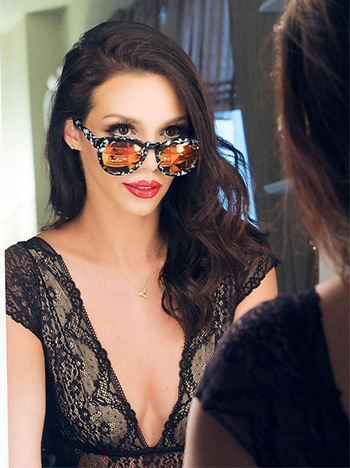 Yves Saint Laurent Rouge Pur Couture Glossy Stain Pop Water in Dewy Red as seen on Scheana Shay