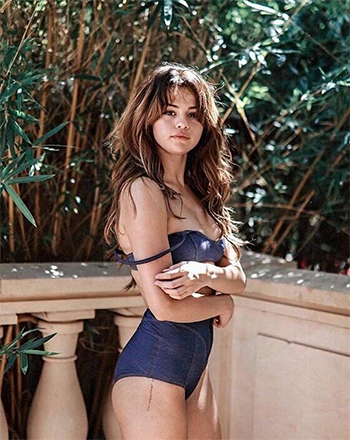 Lisa Marie Fernandez Genevieve Denim Bikini as seen on Selena Gomez