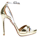Aquazzura Metallic Ankle Strap Sandals