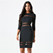 Bebe Mesh Inset Power Knit Dress