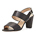 Manolo Blahnik Khan Leather Double-Band Sandal