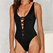 Nasty Gal Factory Hayden Lace-up Swimsuit