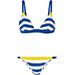 Solid And Striped The Morgan Striped Terry Triangle Bikini
