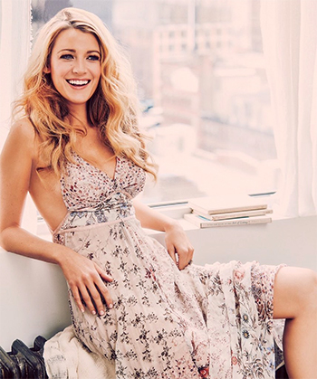 Etro Floral-print Silk-chiffon Gown as seen on Blake Lively in July 4th issue of Hamptons magazine.
