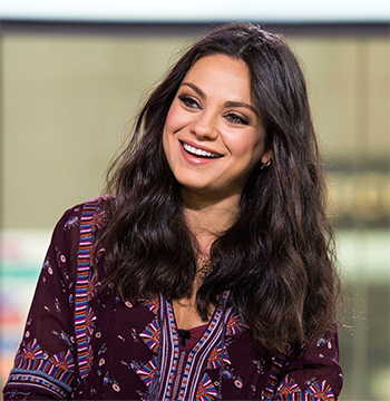Mila Kunis promotes new movie Bad Moms, wearing a Ulla Johnson Bordeaux Jamila Blouse on the Today Show in NYC on July 20, 2016.